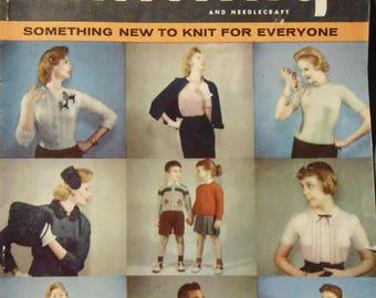 Vintage 1955 Smart Knitting and Needlecraft Book