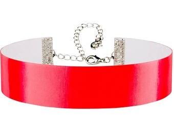 Adjustable Red Color Change Hologram 3D Lenticular Choker Necklace