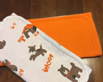 Burp cloths -set of 2  Dogs and Doghouses