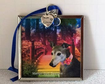 Greyhound Custom Memorial Ornament, Greyhound Memorial, Greyhound Rainbow Bridge, Greyhound Keepsake, Greyhound Remembrance, Greyhound Gift