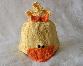 Baby Hats Knitting Knit Baby Hat Hand Knitted Baby Duck Baby Beanie Cotton  Knitted Baby Beanie Halloween Baby Hat Rubber Ducky  Baby Hat