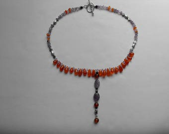 Carnelian, Amethyst Necklace