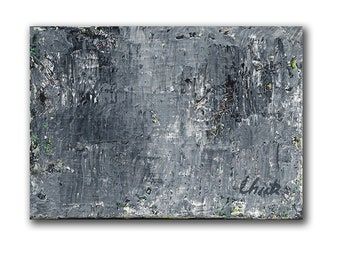 """Abstract Painting. """"Gray Green"""""""