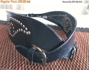 40% OFF Christmas in July Vintage Leather Studded Motorcycle Style Cincher Belt -- Size XL -- Mexican -- Rockabilly