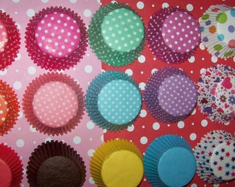 Cupcake Liners Red, Aqua, Purple, Pink, Teal,Rainbow & Solid colors too You Pick All Your Colors 8 Dozen(96)