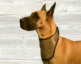 Blingy Dog Cool Collar with ice pocket for super cooling, made custom for your dog