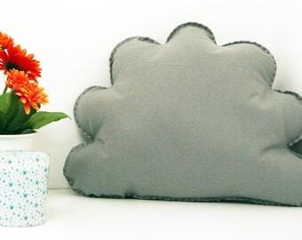 Grey Cloud Cushion, Cloud Shape Throw Pillow, Decorative Pillow, Plush Cloud, Cloud Nursery, Kids Room Decor, Baby Room Decor, Kids Cushion