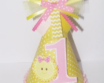 Sunshine Birthday Hat - You are My Sunshine Party Hat, Sunshine Party Supplies