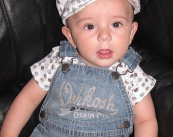 new baby boy 12 month one piece bodysuit top and hat  FREE shipping