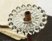 """2 verre vintage Lampe Lustre pause Riser intercalaires pièces 2-1/2"""" W"""