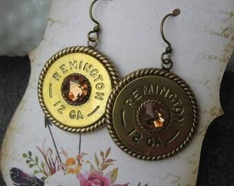 Shotgun Shell Earrings - Bullet Earrings - Dangle Earrings G237