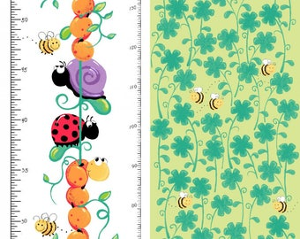 "Susybee - Leif the Caterpillar - Growth Chart Panel - 30"" x 44"" - Multi - Fabric by the Panel SB20243-810"