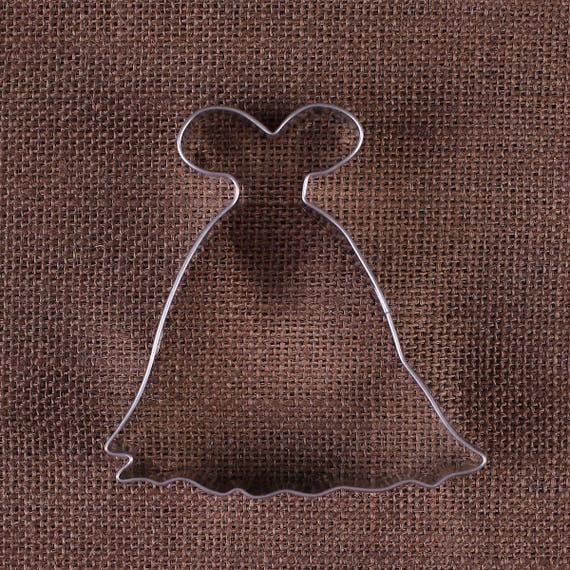Princess Dress Cookie Cutter, Ball Gown Cookie Cutters, Wedding ...