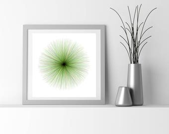 Neuro Science inspired fine art print, by San Francisco generative artist Kristin Henry. fuzzies_9t