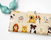 Wallet Women-Floral wallet-Linen wallet-Wallet for women-Vegan wallet-Dog wallet-Women's gift-Gift for Woman-Gift for Dog Lover