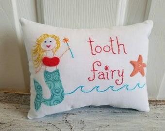 Custom Colorful Mermaid Tooth Fairy Pillows for girl