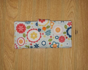 Checkbook Cover, Fabric Checkbook Cover, Bifold, Wallet, Coupon Organizer, Ready to Ship