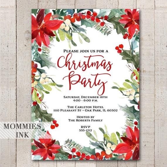 Holiday Party-Einladung Weihnachten-Party-Einladung Winter