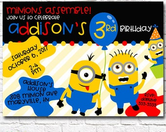 Printable MINION MAYHEM Despicable Me - Inspired Birthday Invitation by Moo Moo's & Tutus Design Studio