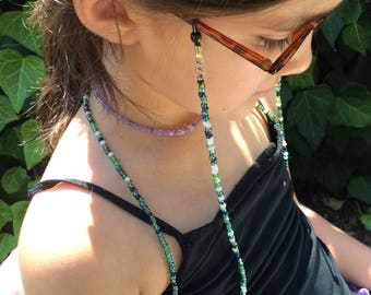 Greens Beaded Eyeglass Holder