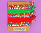 Mario Nintendo Inspired 5PK Knot Hair Ties Fold Over Elastic Stretch Bracelet by Whimsical Elements