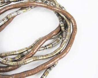 25% off Summer SALE Vintage Copper Necklace Bendable Metal Necklace Snake Necklace Flexible Coil Bracelet 1970s Boho Hippie Wearable Art Nec