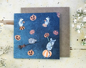 Halloween card / Greeting card / Seasonal card / Festive card
