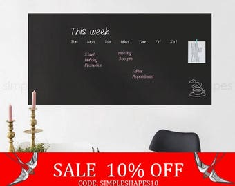 Summer Sale - Chalkboard Wall Decal, Chalkboard Decal Sheet, Large Chalkboard Wall Decal, Chalkboard Wall