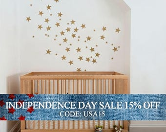 Independence Day Sale - Small Stars - Kids vinyl Wall Sticker