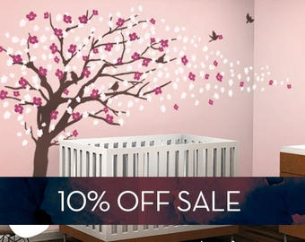 Sale   Vinyl Wall Art Decal Sticker   Cherry Blossom Tree   Elegant Style    LARGE