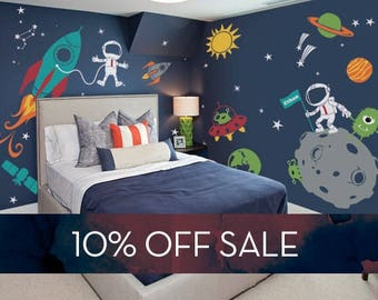 Great Sale   Outer Space Wall Decal, Stars, Planets, Astronaut, Rocket Ship   Design Inspirations