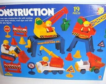 Toy Construction Set - Li'l Playmates Construction Set NIB Vintage Stock