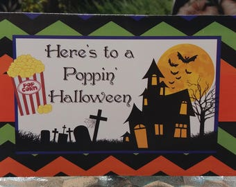 Poppin Halloween,Popcorn Wrapper,Halloween Popcorn,Movie Night,Popcorn Favor,Popcorn Gift,Movie Night Popcorn,Instant Download,Printable