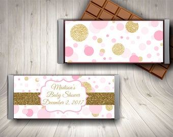 Chocolate Bar Wrapper / Candy Bar Wrapper / Baby Shower Candy Wrapper / Baby  Shower Favor