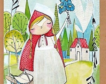 "The Real Story Panel - Little Red Riding Hood - 24"" x 44"""
