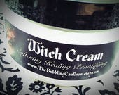 Witch Cream - Witch Lotion -  Quite Bewitching  - 4 Ounces - Witches Brew Scent - Patchouli - Cinnamon - Cedarwood