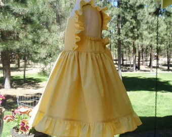 Girls Yellow Dress - Toddler Yellow Dress - Flower Girl Dress - 1st Birthday Dress - Girls Summer Dress - Ruffles - Available in Mint