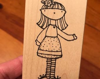 Little miss dogwood stamp