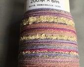 Pink and Purple Cotton Warp - SAORI Pre-wound warp -  200 threads x 6m