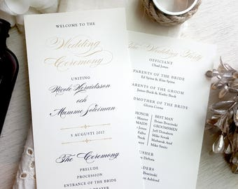 Wedding Programs - Style P22- GRACEFUL COLLECTION | wedding programs  |  ceremony program  |  programs - PRINTED