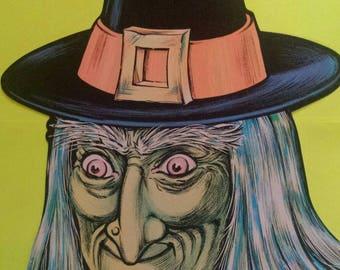 Vintage Die Cut Witch