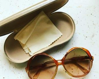 SUMMER SALE DVF Vintage Super Large Oval Sunglasses • Rare Vintage Diane Von Furstenberg Glasses • Fashion Designer 60s Sunglasses