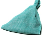 Aqua Blue Headscarf, Linen Headscarves, Bad Hair Day Headscarves, Blue Linen Headband, Solid Linen Headwrap (#4726) S M L X