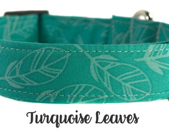 Turquoise Leaf Dog Collar - The Turquoise Leaves