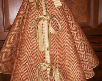 """54"""" Amazing Copper/Rust Gold Luxurious Reversible Christmas Tree Skirt  2017 Collection"""