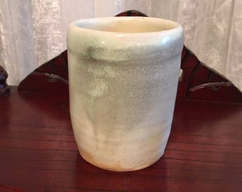 Soda fired porcelain cup