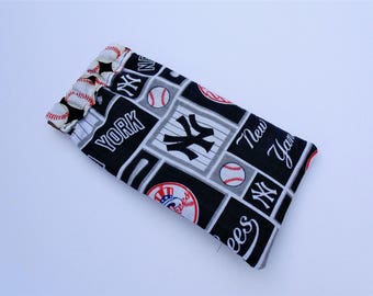 Eye Glass Case, NY Yankees, Flex Frame Case, Cotton Print