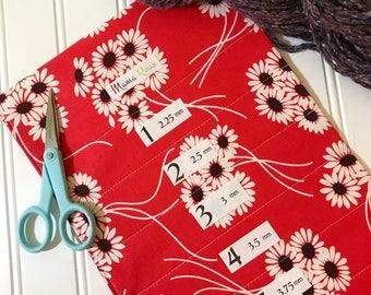 DAISY BOP,  Hanging Circular Knitting Needle Holder, 8 in x 26 in.