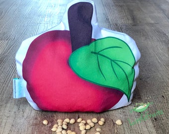 Cherry Pit Pillow Red Apple - Gift Idea for Fruit Lovers - Cherry Pit Heating Pad - Red Delicious Apple - Microwaveable Heating Pad