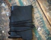 Custom journal for Kathy Eggers: decadent deerskin leather pocketsize journal